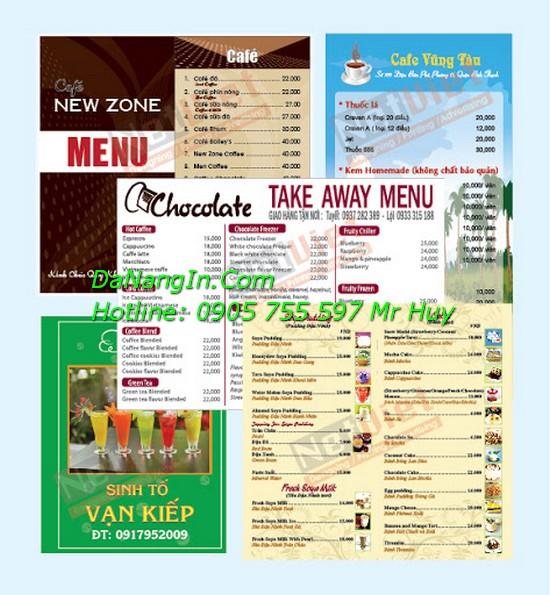 Làm menu nhà hàng quán nhậu tại đà nẵng rẻ đẹp Lh 0905 755 597 Mr Huy