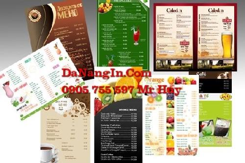 Chuyên in ấn thiết kế menu cafe spa resort tại đà nẵng