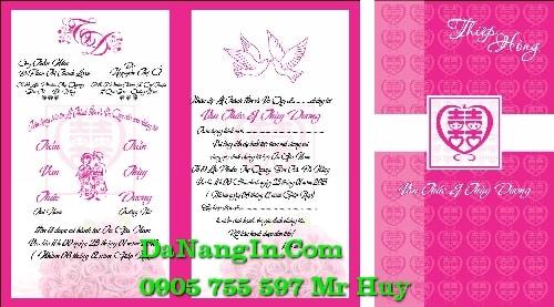 in thiệp cưới tại đà nẵng lấy gấp giá rẻ nhất 0905 755 597 Mr Huy