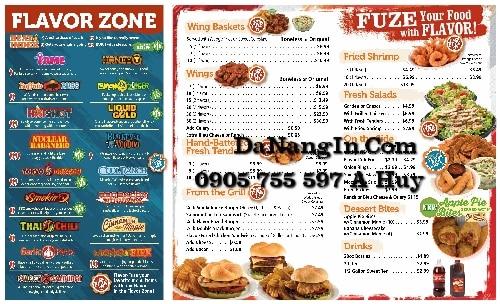 Làm menu tại đà nẵng nhanh rẻ đẹp cafe nhà hàng 0905 755 597 A Huy